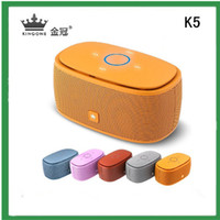 Wholesale Super Bass KINGONE K5 Portable Mini Wireless APP Bluetooth Stereo Music Speaker For iPhone Samsung Nokia Sony HTC