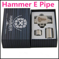 Cheap Hammer E Pipe Mod Kit Mechanical Stainless Steel E-pipe fit for 18350 Battery