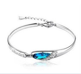 Wholesale Fashion Austria Crystal Glass Shoe Charm Bracelet Unique Design Swarovski Elements Crystal bracelets Silver bracelet for Women colours