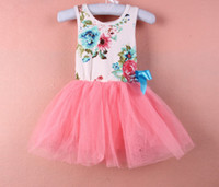 Summer dresses uk - up Mix order EMS FEDEX to AU US UK FR NL CA girls tutu dress girls gauze cotton lace tulle dress girls dresses baby clothes Y APR24