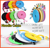 A+++ 10FT 10colors 3M 10FT Flat Noodle Micro USB Data Sync Charger Microusb Cable for Samsung Galaxy S4 i9500 S3  HTC Nokia Lenovo ZTE DHL Fedex Free shipping