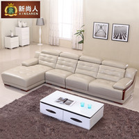 Wholesale min order usd or ft containerCreative office furniture living room sofa leather sofa corner sofa combination of pastoral fashion spe