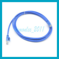 Wholesale 10pcs M FT Ethernet Cable Blue CAT6 CAT RJ45 Plug to Plug UTP Network Ethernet Patch Cord Lan Cable RJ
