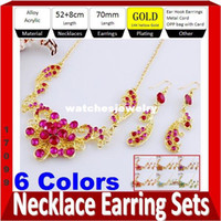 Wholesale Fashion Wedding Jewelry Sets for Anniversary KT Gold Plated Colors Options Acrylic amp Alloy Jewelry Shopping Online