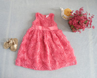 TuTu Summer A-Line free shipping wholesale summer baby dress flower dress lining cotton kids dress children clothing