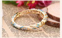 Wholesale Cloisonne Vintage National Style Women Bracelet Fashion Western Crystal Rhinestone Jewelry