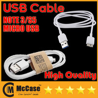 Wholesale High Quality Cables For Cell Phone Micro USB Data Charger USB Cable Cables For NOTE3 NOTE S5 S3 S4 HTC M8 NOKIA Smart Phone