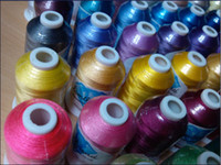 100% polyester embroidery machine - brand simthread wt polyester Embroidery Machine Thread m cone colors