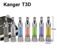 Wholesale Genuine kanger tech T3D atomizer dual coil clearomizer kanger T3 D ml glassomizer kanger T3D BCC tank sui for ego c ego t ego w battery