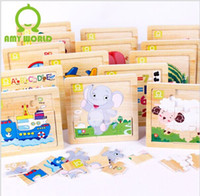 Wholesale Wooden jigsaw puzzle educational toys for children Early Learning gift