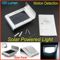 Wholesale Solar Motion Detection Light Solar Light lamp Motion Sensor Solar Panel LED Energy saving lighting Outdoor Path Light