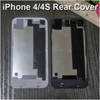 Wholesale Quality Glass Rear Cover for iPhone CDMA S Replacement Back Battery Case Door Housing Repair Part White Black Free DHL