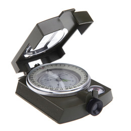Wholesale New Mini Portable Military Army Geology Lensatic Compass Multifunctional Outdoor Camping Exploration Tool with Fluorescent Light H9558