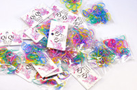 Wholesale Mixed colors amp hot new Children s DIY colorful rubber band hair bands Fashion girl joker soft hair accessories