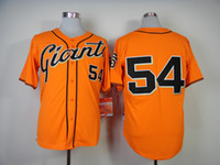 Baseball Men Short 2014 New Style Giants #54 Sergio Romo Orange Cool Base Jerseys Authentic Man Baseball Jersey Highest Quality Cheap Stitched Sports Shirts