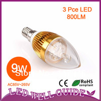 Wholesale X20 High power Cree W lm Dimmable Led candle Bulb E14 E12 E27 V LED chandelier led light lamp lighting spotlight