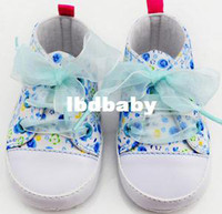 Summer baby crib round - M Flower Kid Toddler Baby Girl White Crib Lace Up Shoes Walking Soft Sneaker