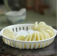 Wholesale SMILE MARKET piece DIY Large Microwave Baked Basket Baked potato chips dish