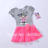 Wholesale kids dress girls child children dresses dress cotton Minnie mouse CS299