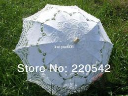 Wholesale White Sun Parasol Wedding Bridal Lace Umbrella Handmade Wedding Parasol Adult Size quot