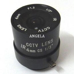 "1 3"" F1.2 CCTV Fixed Iris IR Infrared 4mm Lens CS Mount lense For CCD Camera"