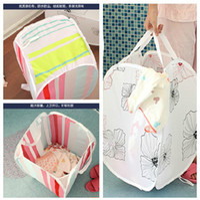 Wholesale piece Creative Fashion Printing Foldable Dirty clothes Storage Basket