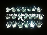 Wholesale New Arrival Party Glowing Gloves Five Fingers Gloves Fashion Sequin Gloves LED Stage Gloves Glowing Gloves Large Discount for Large Order
