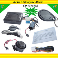 Alarm Systems & Security cardot 12V NEW RFID Motorcycle alarm,english voice lock or unlock,shock sensitivity,immobilizer alarm,transponder tag card learning,