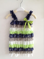 Girl baby football outfits - Posh Football Series Romper Baby Lace Romper birthday Outfit Baby Clothes With Straps and ribbon
