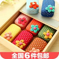 Wholesale 3261 contact lens case cute sweet flowers Shuiyu point Korean beauty pupil essential travel companion box
