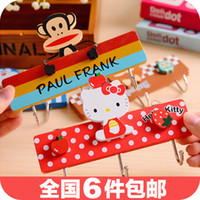 Wholesale 3774 can also be used nail adhesive hook lovely wooden triple hook closet door hook