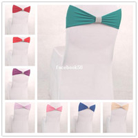 Wholesale Elastic Bow Sash Decorated Banquet Party Bow Chair Sash for Chairs