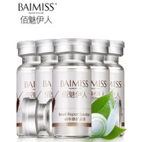 Wholesale BAIMISS Snail Pure Extract Moisturizers Whitening Skin RemoveAcne Treatment Anti Aging Remove Scar Face Care Cream Serum Beauty