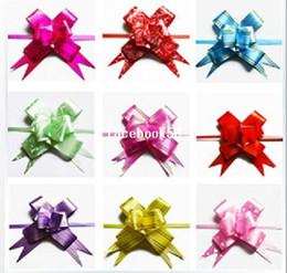 Promotion arcs décorations mariage Multipattern Couleur Pull Arc Cadeau De Mariage De Fleur Décoration Fête D'Anniversaire