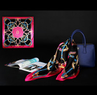 Cheap scarf women 2014 anchor scarf satin large square scarf 90 * 90 cm Emulation silk scarf Mixed style wholesale