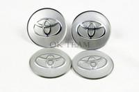 ABS hub caps - Car Badges X Car Accessories Ornament Wheel Center TOYOTA Hub Cap Stickers mm emblems