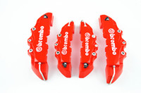 caliper disc brake - 4 Front Rear Universal Disc Brake Caliper Cover Brembo Style Medium Small Red D car styling