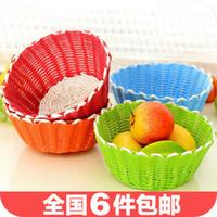 Wholesale 4606 Four Seasons America creative cute green fruit hand woven basket weave debris Storage basket Storage basket