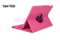 Wholesale 360 Degree Rotating PU Leather Smart Cover Case for Samsung Galaxy Tab Tab4 T530 Stand