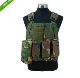Airsoft Tactical Molle Plate Carrier Adjustable Vest 7 Colors Black Tan OD ACU