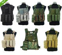 airsoft vest tan - Airsoft Tactical Molle Plate Carrier Adjustable Vest Colors Black Tan OD ACU