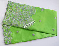 Wholesale Lemon Green Wine Yellow Silver Yards African George Fabric African Lace Swiss Voile Lace With Of Sequins