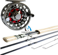 Wholesale DHL Quality sVX Nano altwater proof fly fishing reel and light weight fly fishing rod fly fishing outfit