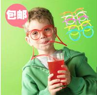 Wholesale 2014 New Strange New Interesting Drinking Straws Lover Madness Funny Glasses Pipette Children s Toys