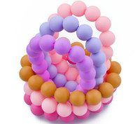Wholesale MIX COLOR FDA Approved Teething Bracelet Silicone Baby Chew Bracelets Baby Safe Silicone Bracelet Momma Baby Nursing Jewels