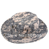 Wholesale Hot sell Military Army Round brimmed Hat Sun Bonnet Woodland Camo Outdoor Cap for Fishing Hiking