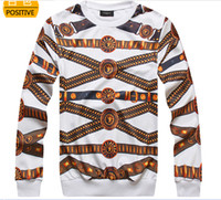Wholesale Personality D Print Gold Medusa Belt Originality Sweatshirts Elasticity O neck Long Sleeve T Shirts Fashion Men Women s Hoodies