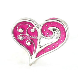 Wholesale Beautiful Rose Red Heart Floating Charms Fit Origami Owl Glass Locket Hot Selling Charms Floating