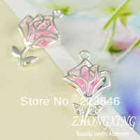 Wholesale cscz01 mm Shiny Silver Plated Filigree Flower Shape Brass Cage Pendant pearl cage sea glass lockets Min Order