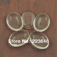 Wholesale H110459 mm Clear Oval Domed Magnifying Glass Cabs Oval Glass Inserts Pendant Tray